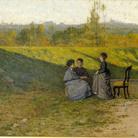 Silvestro Lega, La visita in villa, 1864, Collezione di Rinaldo Carnielo | Courtesy of Dart - Chiostro del Bramante e Arthemisia Group 2016