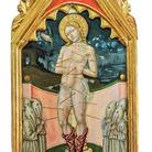 Luca di Paolo, Stendardo processionale: san Sebastiano tra confratelli. Tempera e oro su tavola. Galleria Nazionale dell'Umbria, Perugia (PG)