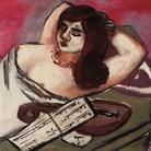 Max Beckmann, Siesta, 1924-1934, Olio su tela, 95 x 35 cm, Collezione privata | © 2018, ProLitteris, Zurich