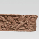 Architrave di un portale, Mathura, Fine del I - Inizio del II secolo d.C., Arenaria rossa, 100 x 25.5 cm