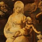 Leonardo da Vinci (1452-1519), Adorazione dei Magi, Particolare della Madonna col Bambino, Dopo il restauro