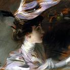 Giovanni Boldini, Il cappellino nuovo (Ritratto di Lina Cavalieri), 1898 circa. Olio su tavola, 27 x 33 cm