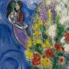 Marc Chagall, Coppia di amanti e fiori, 1949. Litografia a colori, cm 64,9x48,1. Dono di Ida Chagall, Parigi © Chagall ® by SIAE 2015