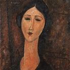 Amedeo Modigliani, Ritratto femminile, 1917, Olio su tela, 46 x60.4 cm, Collezione privata | Courtesy of Palazzo Ducale, Genova 2017