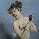 Giovanni Boldini, Giovane donna in déshabillé (La toilette), 1880 circa, Collezione privata