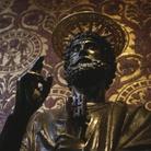 Statua di San Pietro (dettaglio), Basilica di San Pietro a Roma, Immagine tratta dal film