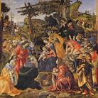 Filippino Lippi (1474 circa-1504), Adorazione dei Magi, 1496, Tempera grassa su tavola, 243 x 258 cm, Firenze, Gallerie degli Uffizi, Galleria delle statue e delle pitture dal 1948
