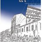 Biagio Rossetti e il suo quartiere nelle illustrazioni di Claudio Gualandi