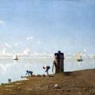Guglielmo Ciardi, Veduta sulla laguna, olio su tela, 73 x 98 cm