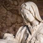 Pietà vaticana (dettaglio), Michelangelo Buonarroti, 1497-1499, Basilica di San Pietro a Roma, Immagine tratta dal film