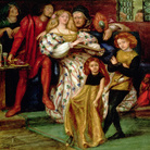 Dante Gabriel Rossetti (1828 - 1882), Borgia o La famiglia Borgia, 1863, Acquerello, 52.2 x 54 cm, Londra, Victoria and Albert Museum