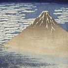 Katsushika Hokusai, Fuji Rosso (Giornata limpida col vento del sud), Dalla serie Trentasei vedute del monte Fuji,1830-1832 circa, Silografia policroma, 25.5 x 36.8 cm, Honolulu Museum of Art | Courtesy of Palazzo Reale, Milano 2016