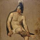 Francesco Hayez, Studio di guerriero seduto, 1813-14, Olio su tela, 70 x 95 cm