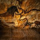 Ricostruzione delle pitture rupestri rinvenute nella grotta di Lascaux