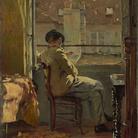 Cuno Amiet, Giovanni Giacometti legge alla finestra - Parigi (Giovanni Giacometti am Fenster lesend - Paris), 1890, olio su tela, 41 x 32.5 cm Collezione privata