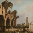 Canaletto (Venezia 1697-1768), La Basilica di Massenzio, Santa Francesca Romana e il Colosseo, Roma, 1753-1754, Olio su tela, 108.5 x 130 cm, Collezione privata | Courtesy of Matteo Salamon