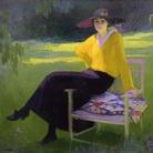 Amedeo Bocchi, Nel parco, 1919, Olio su tela, Roma, Galleria d'Arte Moderna | Courtesy of Galleria d'Arte Moderna, Roma