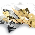 Daniela Banci, Fiamma, Collana, Oro giallo, argento, argento brunito, 26 x 20 cm