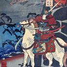 Utagawa Kuniyoshi, Kumagaya, 1852, Della serie Le 69 stazioni sulla strada del-Kisokaido, Xilografia policroma in formato oban, 235 x 358 mm, Firmata Ichiryusai Kuniyoshi dipinse