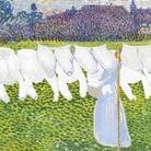 Cuno Amiet, Il bucato (Die Wäsche), 1904, Olio su eternit, 100 x 92.5 cm, Collezione privata