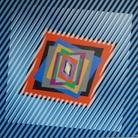 Ferruccio Gard, Effetto colore in op art 16-1, 2016, Colori acrilici su tela, 80 x 80 x 4 cm