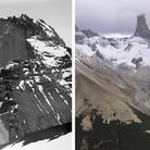 Sulle tracce dei ghiacciai, Ande, Ghiacciaio Paine 1945-2016 | Alberto Maria De Agostini, 1945 - © Museo Borgatello + Fabiano Ventura, 2016 - © Fabiano Ventura