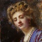 Daniele Ranzoni, Ritratto della signora Rapetti, 1884 circa. Olio su tela, 52 x 44 cm