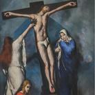 Primo Conti, Crocifissione, 1924, olio su tela, cm 190 x 130. Firenze, Convento di Santa Maria Novella. Foto Antonio Quattrone