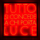 Andrea Pinchi. Tutto si concede a chi porta luce