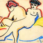 Ernst Ludwig Kirchner, Due nudi sul letto, 1907-1908, Kunstmuseum Bern | Courtesy of Nexo Digital | Kirchner fu pesantemente colpito dalla censura nazista, che sequestrò dai musei centinaia delle sue opere, molte delle quali furono dapprima mostrate nell'esposizione diffamatoria dell'Arte Degenerata del 1937 e poi distrutte