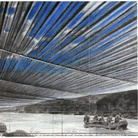 Christo, Over the River (Project for Arkansas River, State of Colorado), Drawing 2008, 22 x 28