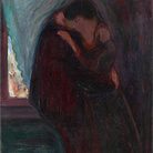 Edvard Munch (1863 - 1944), Il Bacio, 1897, Olio su tela, 99 x 81 cm, Oslo, Munch Museum
