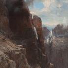 Edward Theodore Compton, Paesaggio delle Dolomiti, 1872-1882, Olio su tela, 149.6 x 93.2 cm, Inv. MG-690, Zagabria, Moderna Galerija
