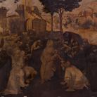 Lo stato del restauro dell'Adorazione dei Magi di Leonardo