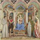 Domenico Veneziano, Pala di Santa Lucia de' Magnoli, 1445. Tempera su tavola, cm 209×216. Galleria degli Uffizi, Firenze