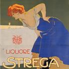 Marcello Dudovich, Liquore Strega, 1906, 144 x 204 cm | Courtesy of Galleri L'IMAGE, Alassio (SV)