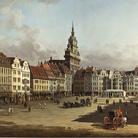 Bernardo Bellotto,Veduta del vecchio Mercato di Dresda,1750-1752, Olio su tela, 241 x 135 cm, Mosca, Museo Puškin