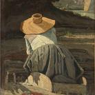 Paul Guigou, Lavandaia, 1860. Olio su tela, cm 81 x 59