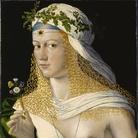 Bartolomeo Veneto (1502 - 1555), Ritratto idealizzato di Flora, La dama forse è Lucrezia Borgia, Circa 1520, tempera e olio su pannello di pioppo, 43.6 x 34.6 cm, Francoforte, Städel Museum