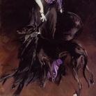 Giovanni Boldini (1842 - 1931), La marchesa Luisa Casati con un levriero, 1908, Collezione privata