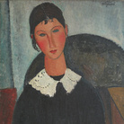 Amedeo Modigliani (Livorno,1884 - Parigi, 1920), Elvire au col blanc (Elvire à la collerette), 1917 o 1918, Olio su tela, 92 x 65 cm, Parigi, Collezione Jonas Netter