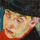 Fausto Pirandello, Autoritratto, 32 x 19.5 cm, Galleria Arte Moderna, Milano