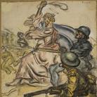 Mario Sironi, In Palestina il nostro di Dio Il Montello 15 Ottobre 1918 cm 54x67
