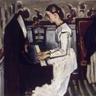 Paul Cézanne (1839–1906), Jeune Fille au piano, 1866 circa, Olio su tela, 92 x 57 cm, Museo Statale Ermitage, San Pietroburgo