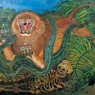 Antonio Ligabue, Re della foresta, 1959, Olio su tela, 190 x 251 cm | Courtesy of Fondazione Archivio Antonio Ligabue di Parma