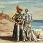 Giorgio de Chirico, Personaggi sulla spiaggia (1933), olio su tela, cm 50 x 60. © Courtesy Galleria d'Arte Maggiore G.A.M., Bologna.
