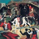 Antonio Ligabue, Corrida, 1931-1932, Olio su tavola di compensato, 55 x 61 cm