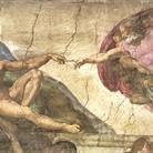 Michelangelo Buonarroti, La Creazione di Adamo, 1511. Affresco, cm 280 x 570. Cappella Sistina, Musei Vaticani