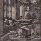 Albrecht Dürer, San Girolamo nella cella, Incisione a bulino, 188 x 248 mm | Courtesy © Musei Civici di Bassano