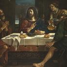 Guercino e Paolo Antonio Barbieri, Cena in Emmaus,1623 circa, Olio su tela, Cento, Pinacoteca Civica